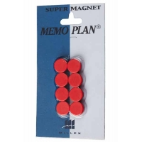 8 Aimant 15 mm Rouge