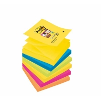 POST-IT Super Sticky Z-Notes, pack de 6 blocs, 90 feuilles/bloc, 76 x 76 mm, couleurs Rio