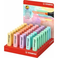 Surligneur STABILO Boss Pastel – Display de 40
