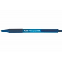 Stylo Bille BIC Soft feel grip Bleu