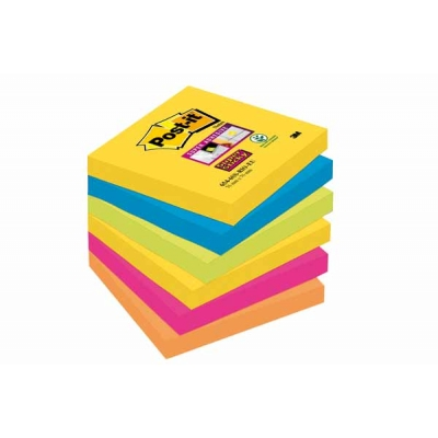 Notes Post-It Super Sticky 76x76 Couleurs Rio