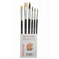 Blister de 6 Pinceaux Art Hobby Mix