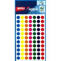 385 gommettes Apli ø8mm Couleurs assorties