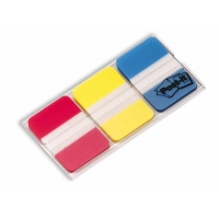 Etui de 3 couleurs d'Index Post-It rigide Bleu-Rouge-Jaune