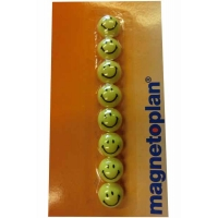 8 Magnetoplan Aimants Smiley 20mm