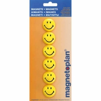 6 Magnetoplan Aimants Smiley 30mm