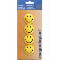 4 Magnetoplan Aimants Smiley 40mm