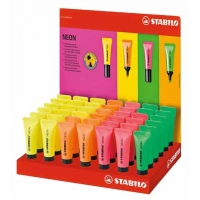 Display de 42 surligneurs Stabilo Neon