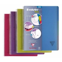 Cahier CLAIREFONTAINE EVOLUTIVE BOOK 240 pages -  ligné 225x297mm