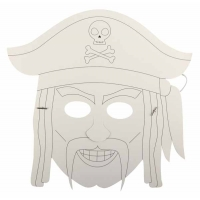 4 Masques Pirates Carton