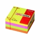 Cube de 400 feuilles de Notes Apli 75x75 4 Couleurs assorties