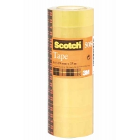 Plakband SCOTCH 508 transparent 15mm x 33m - 10 stuks