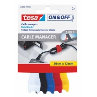5 Cables manager TESA 20x12 couleurs assorties