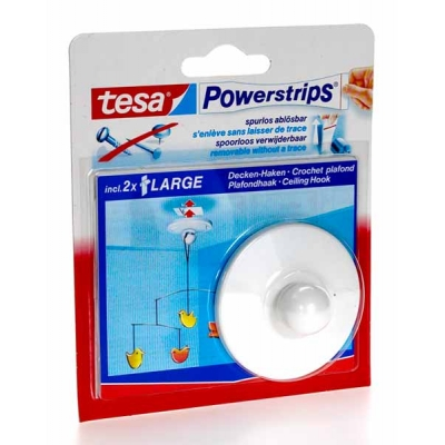 tesa powerstrips 1 crochet plafond arpaca. Black Bedroom Furniture Sets. Home Design Ideas