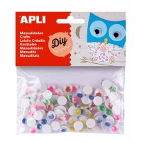 100 Yeux mobiles APLI Couleurs assorties