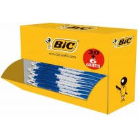 Stylos bille BIC Atalntis Pointe moyenne Bleu – Value pack 30 + 6