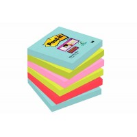 Notes POST-IT Super Sticky Couleurs Miami 76 x 76 mm