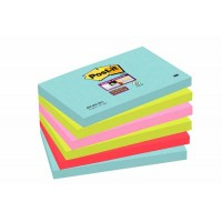 Notes Super Sticky Couleurs Miami 76 x 127 mm