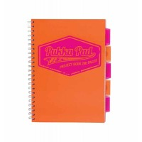 Cahier spiralé PUKKA PAD A5 Neon Project Book Jotta Orange