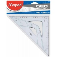 Equerre MAPED GEOMETRIC - 45° hypoténuse 26 cm