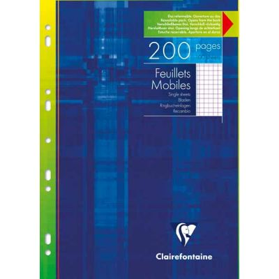 Feuillets mobiles CLAIREFONTAINE 200P Q5 A4