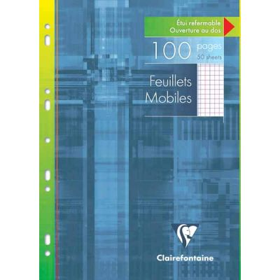 Feuillets mobiles CLAIREFONTAINE 100P Q5 A4