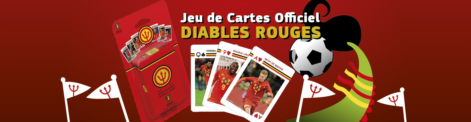 Jeu de cartes officiel des Diables Rouges