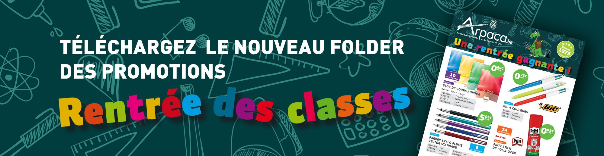 Promotions du Folder rentrée des classes